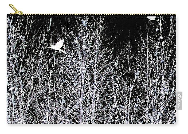 Phantom Birds Carry-all Pouch featuring the digital art Phantom Birds by Will Borden
