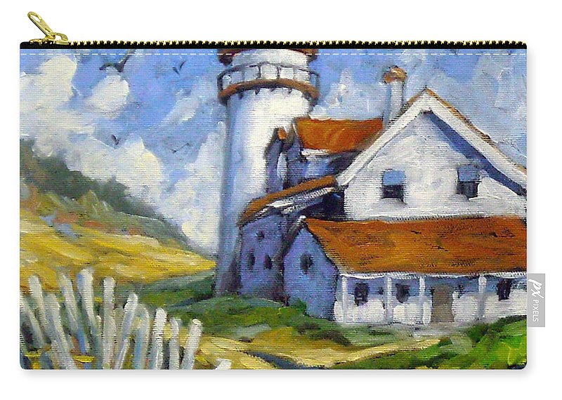 Art For Sale; Seascape Carry-all Pouch featuring the painting Phare 005 by Richard T Pranke