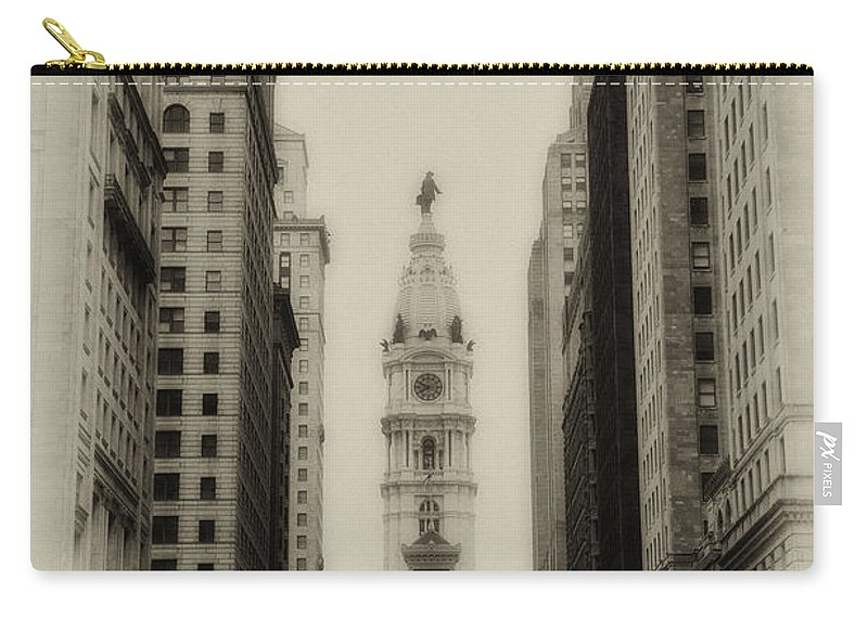 Philadelphia Carry-all Pouch featuring the photograph Philadelphia City Hall From South Broad Street by Bill Cannon