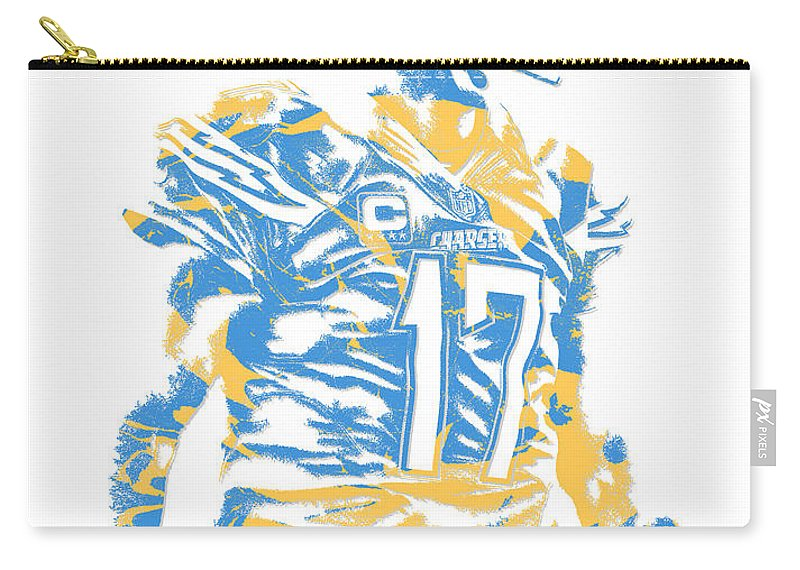 Philip Rivers San Diego Los Angeles Chargers Pixel Art 4 Carry All Pouch