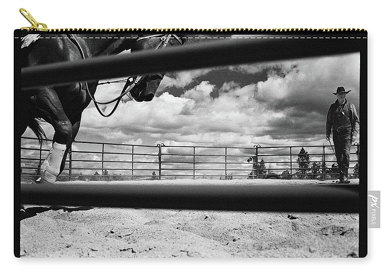 Horse Carry-all Pouch featuring the photograph Philipsburg, Montana by Braden Moran