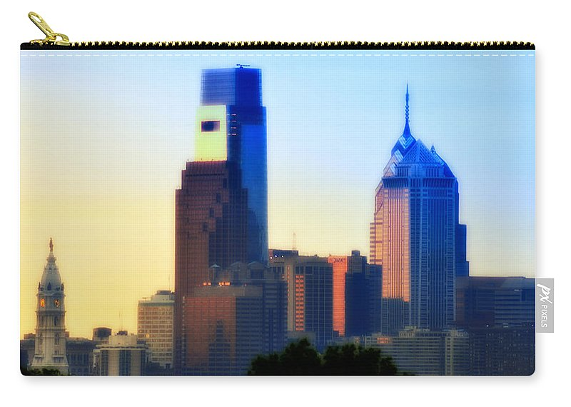 Philadelphia Carry-all Pouch featuring the photograph Philly Morning by Bill Cannon