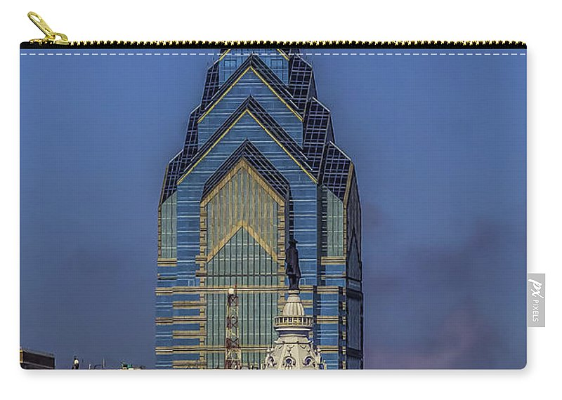 Travel Carry-all Pouch featuring the photograph Philly Skyline-old And New by Nick Zelinsky