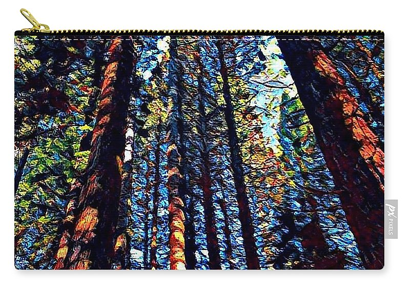 Phil's Trees Carry-all Pouch featuring the digital art Phil's Trees by Sandy Taylor