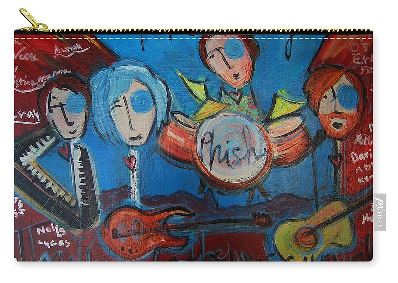 Painting Carry-all Pouch featuring the painting Phish For Red Rocks Amphitheater by Laurie Maves ART