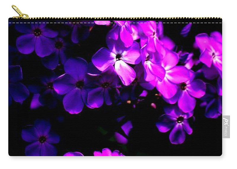 Digital Photograph Carry-all Pouch featuring the photograph Phlox 1 by David Lane