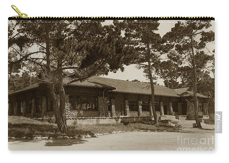 Asilomar Carry-all Pouch featuring the photograph Phoebe A Hearst Social Hall Asilomar Pacific Grove Circa 1925 by California Views Archives Mr Pat Hathaway Archives