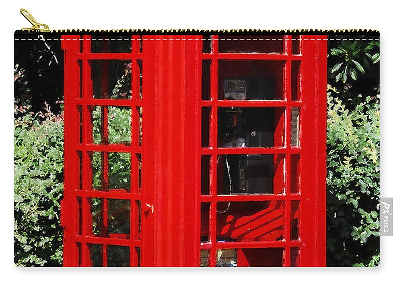 Phone Booth Carry-all Pouch featuring the photograph Phone Booth by David Lee Thompson