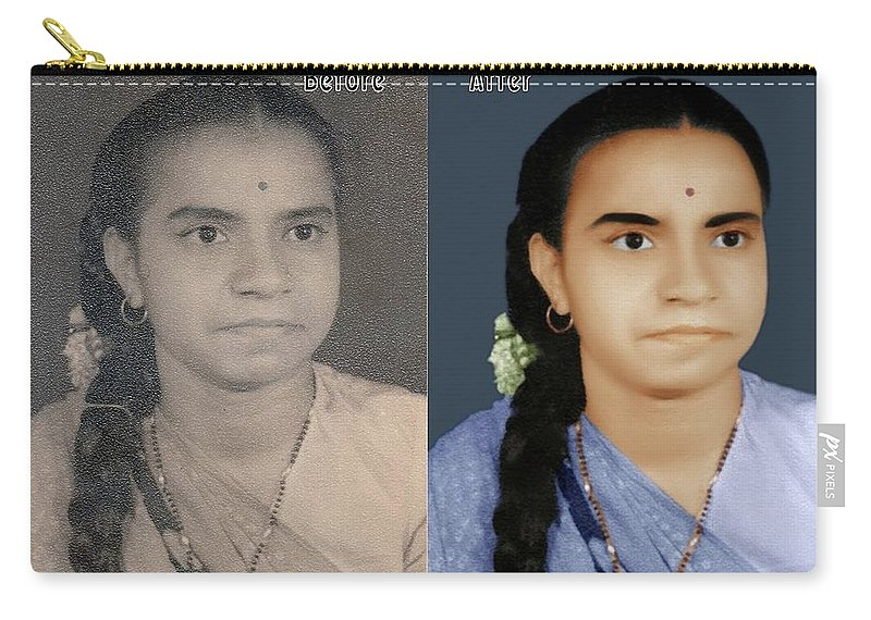 Image Restoration Carry-all Pouch featuring the digital art Photo Restoration Services Image Outsource India by Image restoration