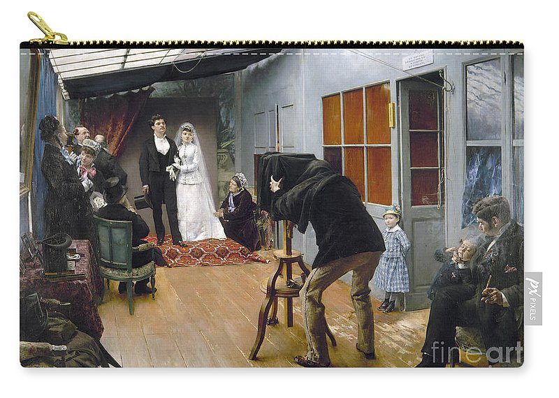 1878 Carry-all Pouch featuring the photograph Photography Studio, C1878 by Granger