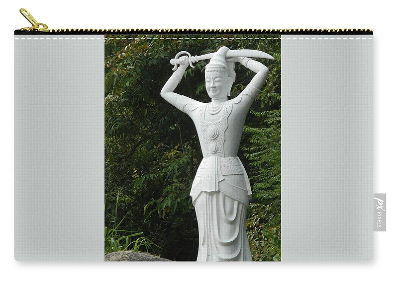 Phu My Carry-all Pouch featuring the photograph Phu My Statues 3 by Ron Kandt