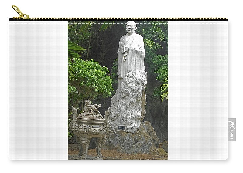 Phu My Carry-all Pouch featuring the photograph Phu My Statues 5 by Ron Kandt