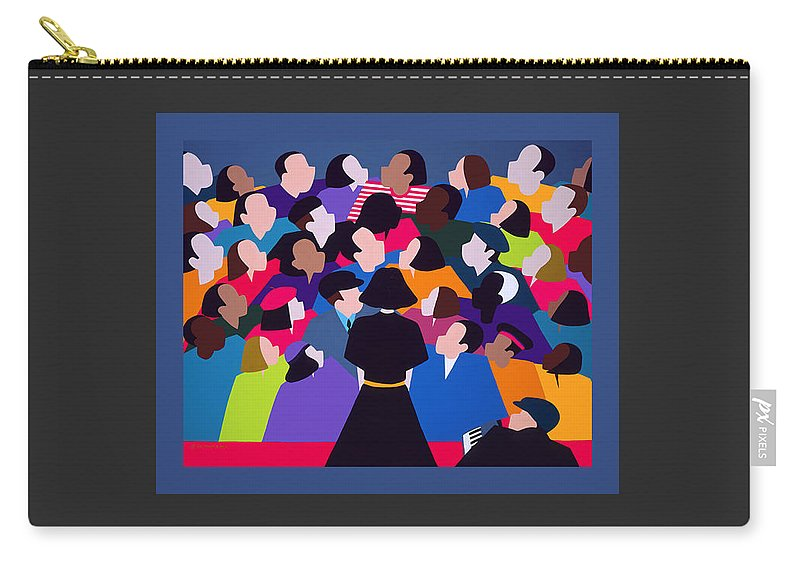 France Carry-all Pouch featuring the painting Piaf Aka A Tribute To Edith Piaf by Synthia SAINT JAMES