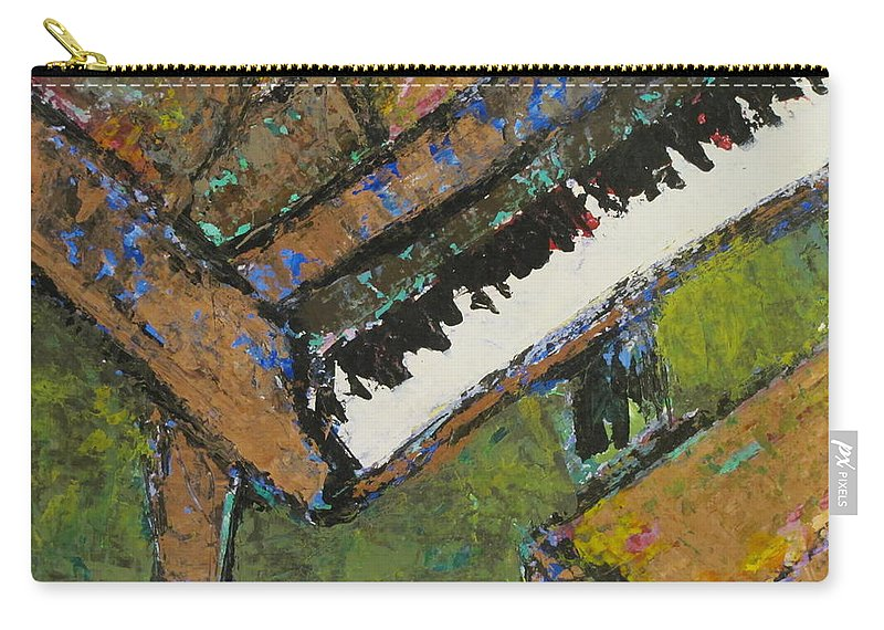 Piano Carry-all Pouch featuring the painting Piano Close Up 1 by Anita Burgermeister