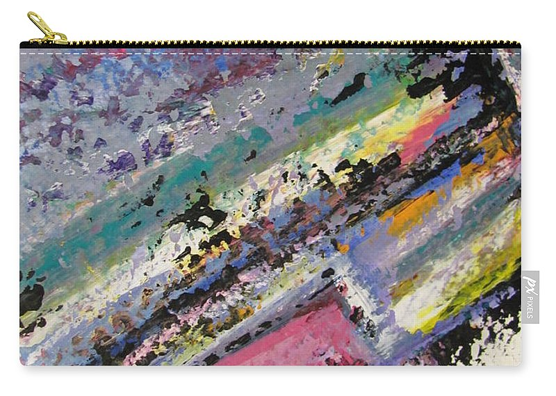 Piano Carry-all Pouch featuring the painting Piano Close Up 2 by Anita Burgermeister