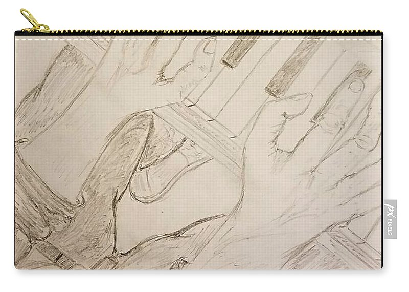 Piano Man Carry-all Pouch featuring the photograph Piano Man by Richard Howell