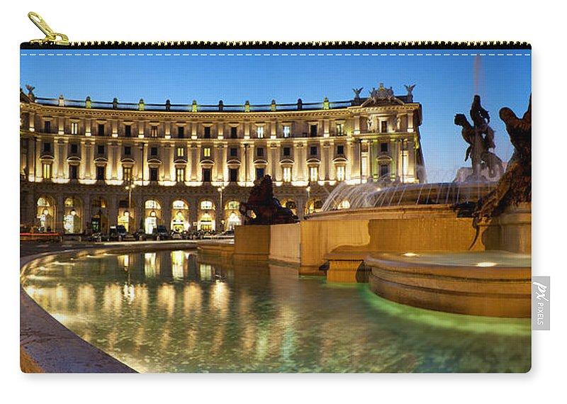 Rome Carry-all Pouch featuring the photograph Piazza Della Repubblica by Fabrizio Troiani