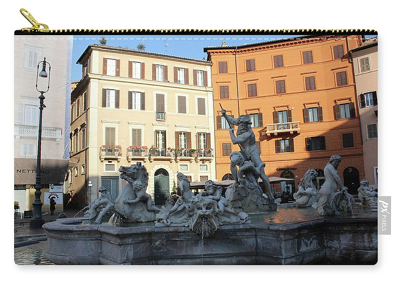 Piazza Navona Carry-all Pouch featuring the photograph Piazza Navona Rome by Munir Alawi