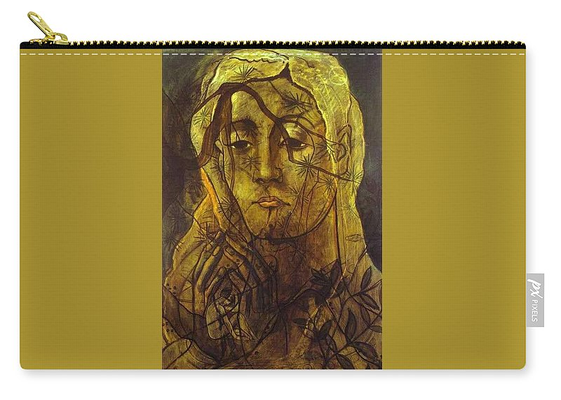 Tattoo Carry-all Pouch featuring the digital art picabia33 Francis Picabia by Eloisa Mannion