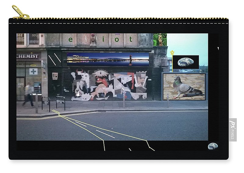 Picasso Carry-all Pouch featuring the digital art Picasso's Guernica In Glasgow, Scotland by Gregg Elliot