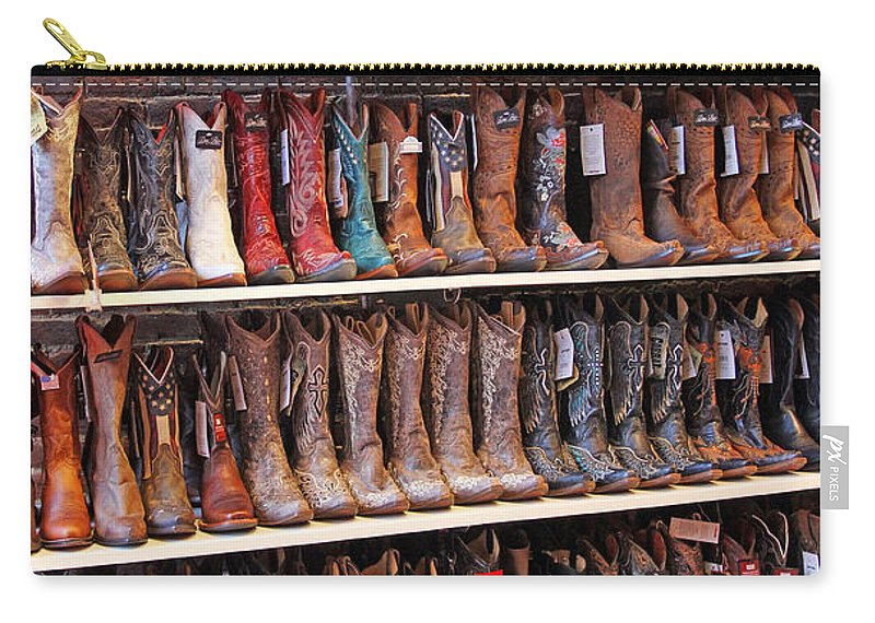 Cowboy Boots Carry-all Pouch featuring the photograph Pick One by Jennifer Robin