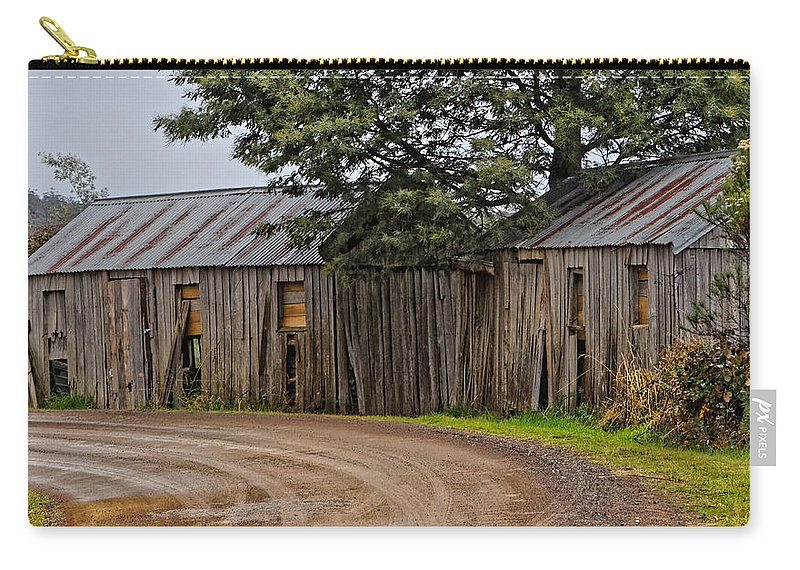 Australia Carry-all Pouch featuring the photograph Pickers Huts by Renee Miller