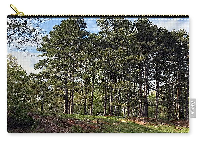 Picnic Carry-all Pouch featuring the photograph Picnic Anyone? by James Pinkerton