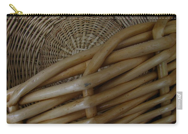Art For The Wall...patzer Photography Carry-all Pouch featuring the photograph Picnic Basket by Greg Patzer