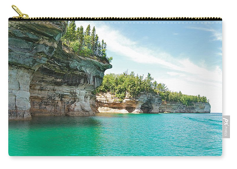 Landscape Carry-all Pouch featuring the photograph Pictured Rocks by Michael Peychich