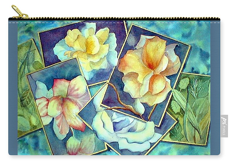 Watercolor Carry-all Pouch featuring the painting Pictures At An Exhibition by Debbie Lewis
