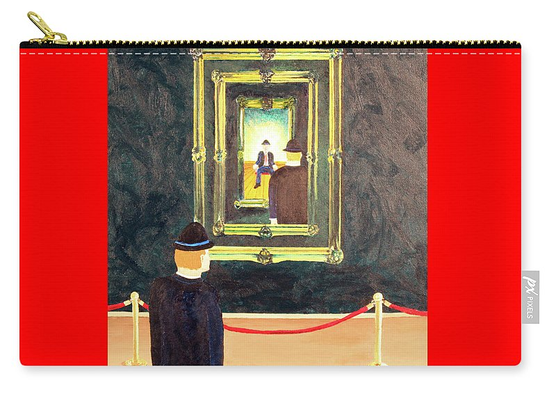 Surrealism Carry-all Pouch featuring the painting Pictures At An Exhibition by Thomas Blood
