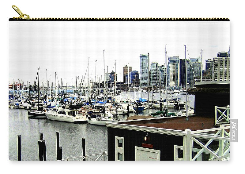 Vancouver Carry-all Pouch featuring the photograph Picturesque Vancouver Harbor by Will Borden