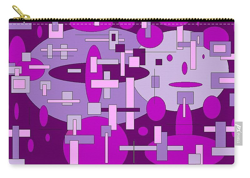 Digital Artwork Carry-all Pouch featuring the digital art Piddly by Jordana Sands