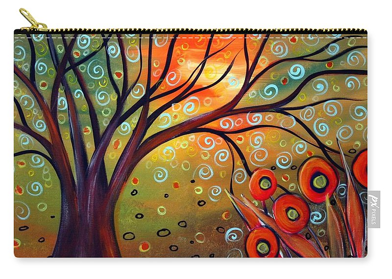 Landscape Carry-all Pouch featuring the painting Piece Of Eden by Luiza Vizoli