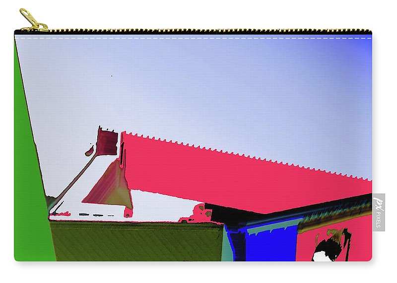Pier Carry-all Pouch featuring the digital art Pier Abstraction by Ronald Irwin