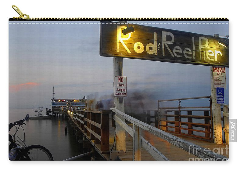 Fishing Pier Carry-all Pouch featuring the photograph Pier Group by David Lee Thompson