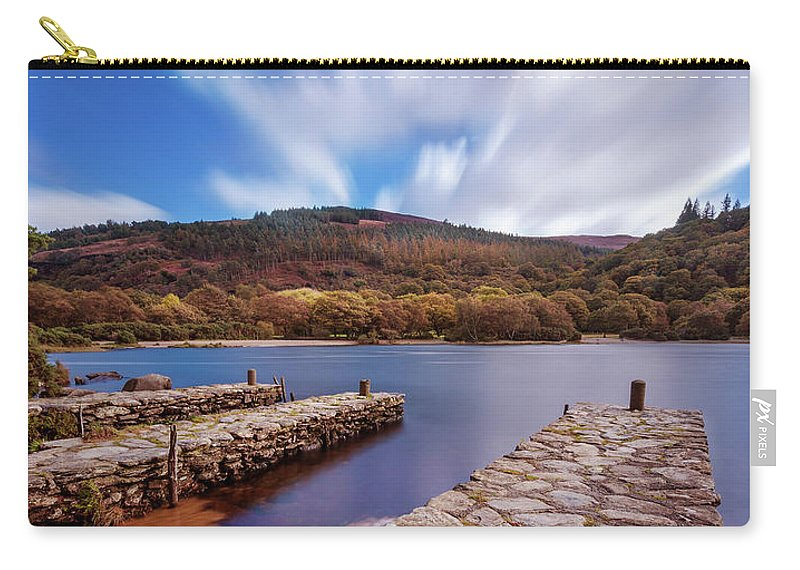 Upper Lake Carry-all Pouch featuring the photograph Pier On The Upper Lake In Glendalough - Wicklow, Ireland by Barry O Carroll