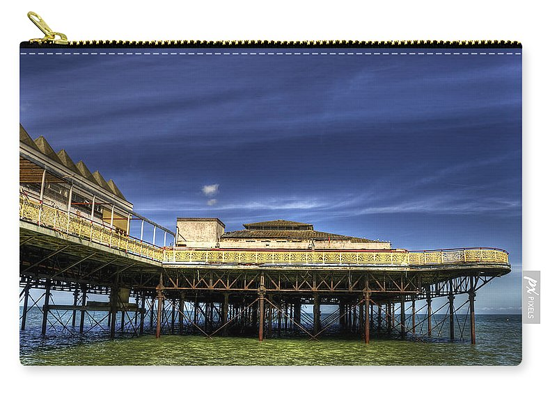 Beach Carry-all Pouch featuring the photograph Pier Structure by Svetlana Sewell