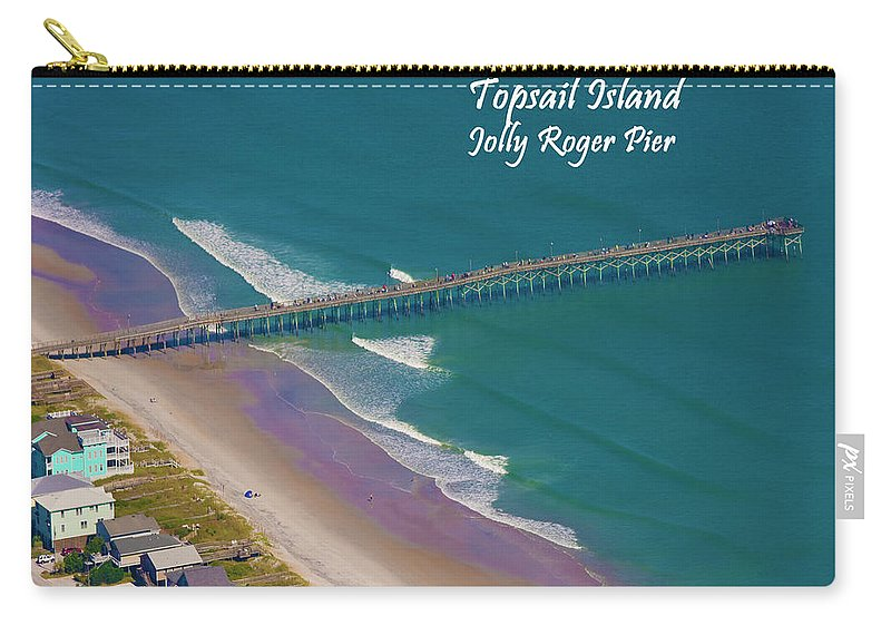 Topsail Island Carry-all Pouch featuring the photograph Pier Tastic by Betsy Knapp