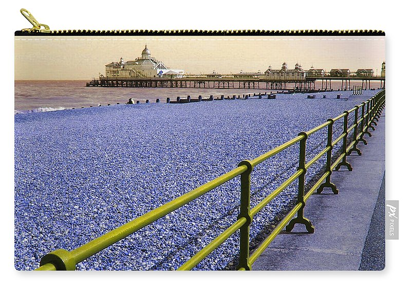 Pier Carry-all Pouch featuring the photograph Pier View England by Heather Lennox