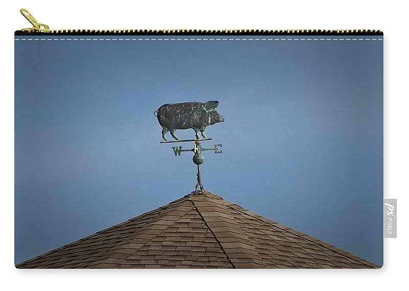 Pig Carry-all Pouch featuring the photograph Pig Weathervane Ocean Isle North Carolina by Teresa Mucha