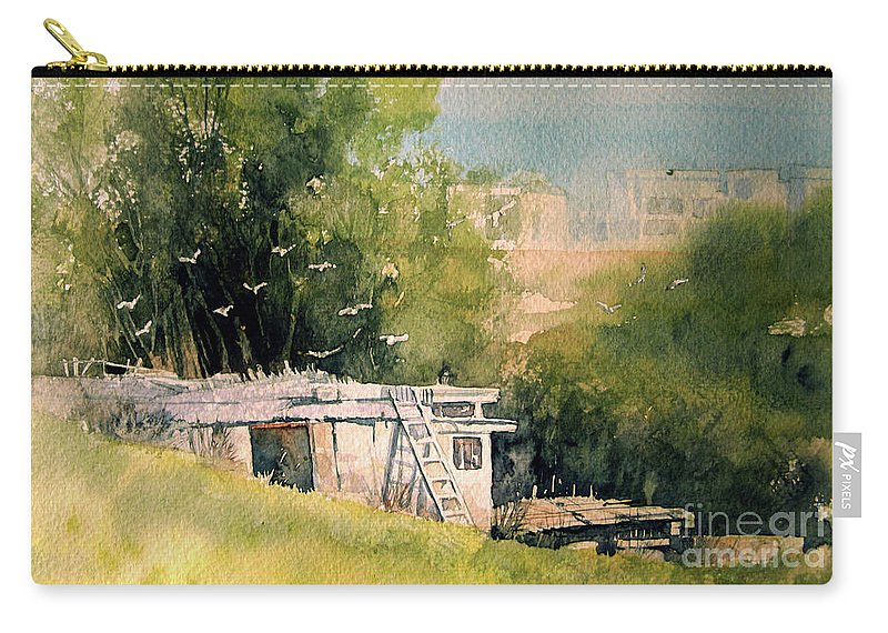 Scene Carry-all Pouch featuring the painting Pigeon Hut by Diane Agius