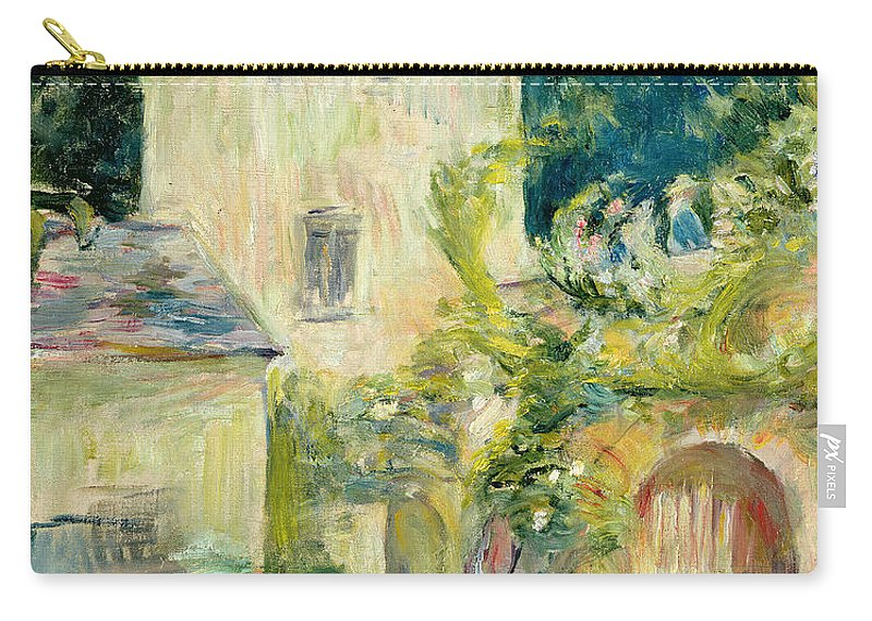 Pigeon Carry-all Pouch featuring the painting Pigeon Loft At The Chateau Du Mesnil by Berthe Morisot