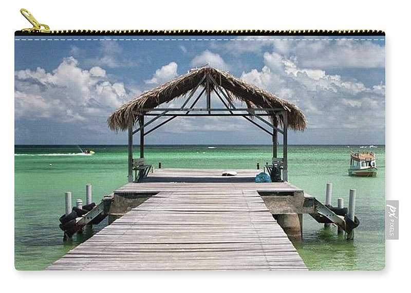 Beautiful Carry-all Pouch featuring the photograph Pigeon Point, Tobago#pigeonpoint by John Edwards