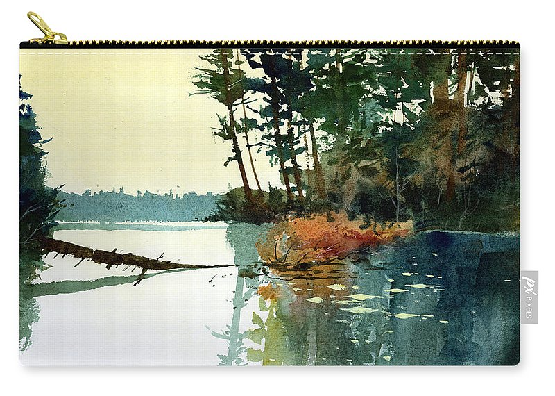Lakes Carry-all Pouch featuring the painting Pike Alley by Lee Klingenberg