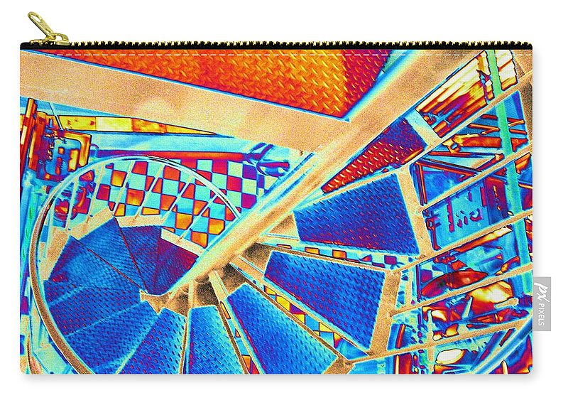 Seattle Carry-all Pouch featuring the digital art Pike Brewpub Stair by Tim Allen