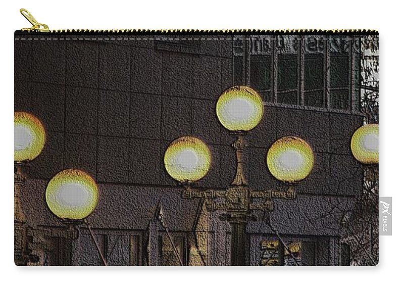 Seattle Carry-all Pouch featuring the digital art Pike Lights by Tim Allen