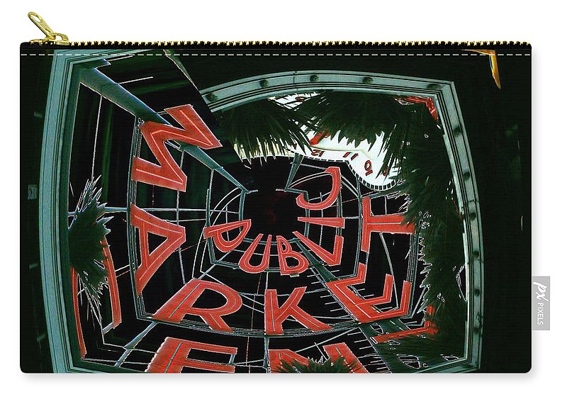 Seattle Carry-all Pouch featuring the digital art Pike Place Market Entrance 2 by Tim Allen