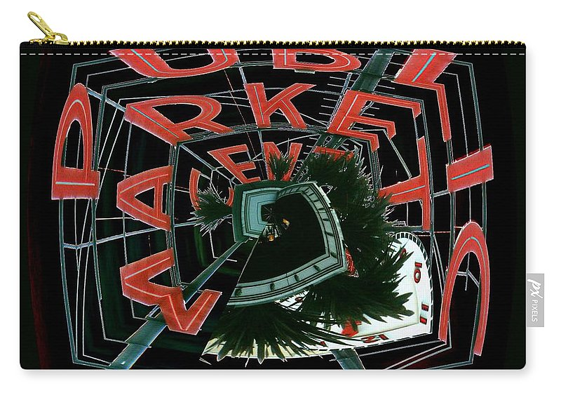 Seattle Carry-all Pouch featuring the digital art Pike Place Market Entrance 4 by Tim Allen