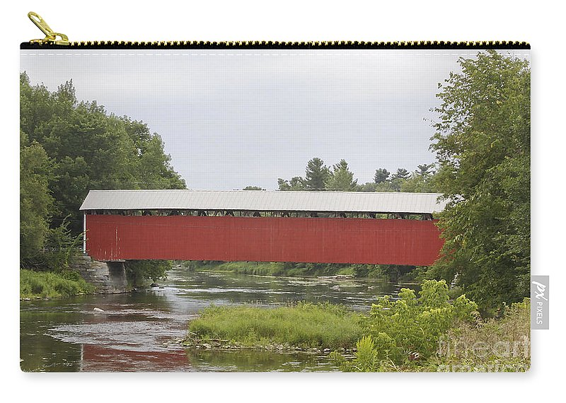 Covered Carry-all Pouch featuring the photograph Pike River Canada by Deborah Benoit